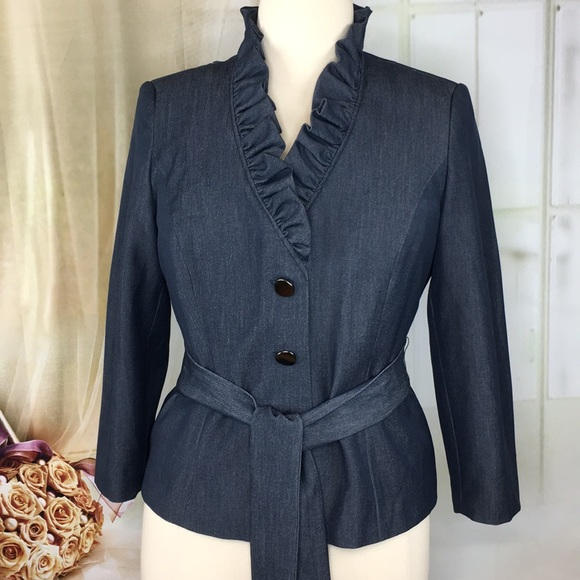 Signature by Larry Levine Jackets & Blazers - Signature by Larry Levine Blue Blazer